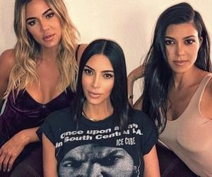 kim kardashian, kourtney kardashian, and khloe kardashian image