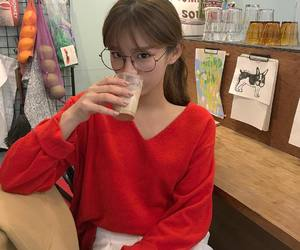 girl, korean, and glasses image