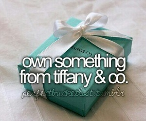bucket list, tiffany, and tiffany & co image