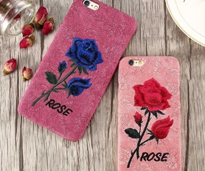 iphone case, floral iphone case, and red floral case image