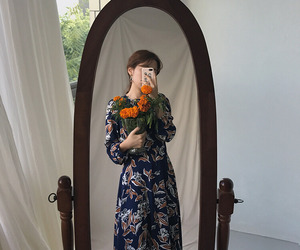 aesthetic, dress, and flowers image