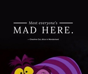 alice in wonderland, disney, and Cheshire cat image