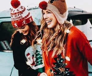 christmas, winter, and friends image