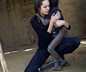 Angelina Jolie and africa image