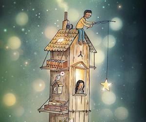 illustration, love, and romantic image