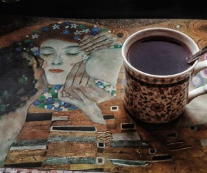 art, coffee, and healthy image