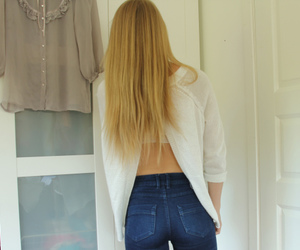 blonde, hair, and outfit image