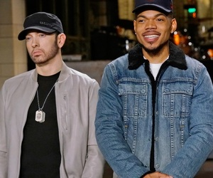 eminem, slim shady, and chance the rapper image