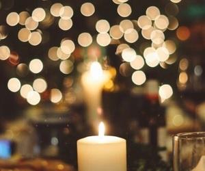 christmas, light, and candle image