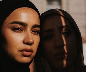 eyes, hijab, and sisters image