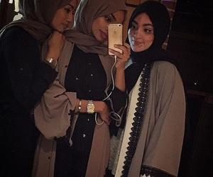 hijab, kimono, and mirror image