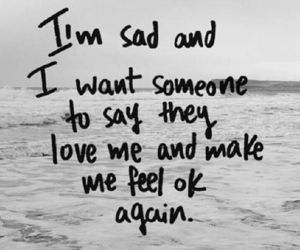 sad, love, and quotes image