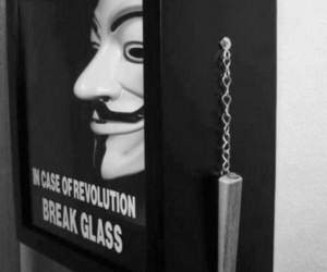 revolution, mask, and black and white image