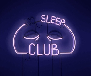 neon, purple, and sleep image