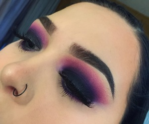 dark, eyebrows, and eyeshadow image