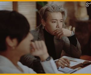 black suit, donghae, and mv image