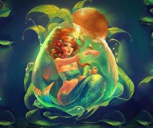 anime, girl, and mermaid image