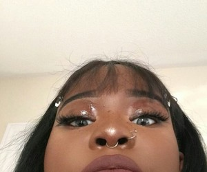 girl, makeup, and melanin image