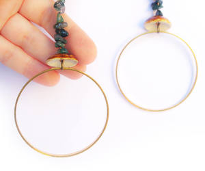 etsy, gold hoops, and fashion image