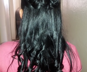 glow, hair, and cabelos escuros image