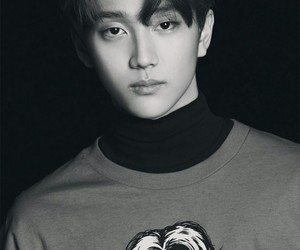 black and white, kpop, and music image