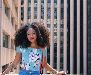 beautiful, beauty, and curly hair image