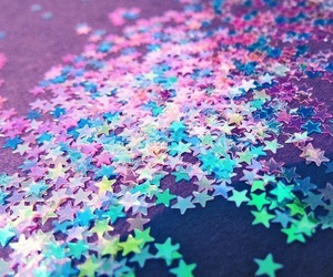 stars, glitter, and blue image