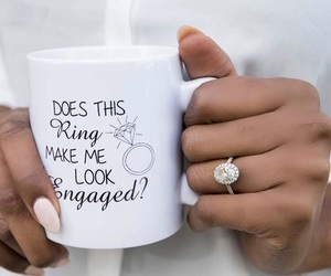 bride, cup, and engaged image