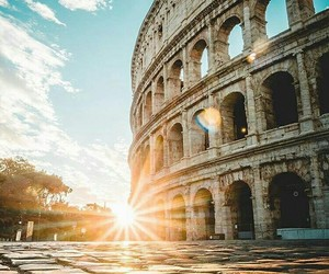 colosseum, italy, and light image