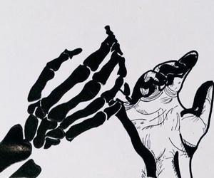 art, skeleton, and grunge image