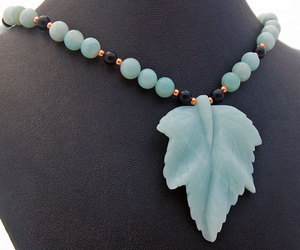 beaded necklace, gemstone necklace, and natural stone image