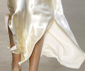 fashion, silk, and runway image