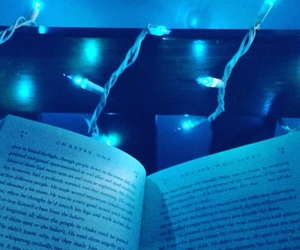 blue, book, and lights image