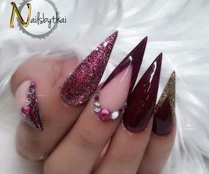 girl, nail, and polish image