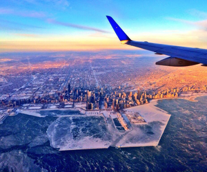 chicago, city, and plane image