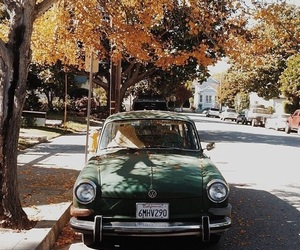 car, autumn, and old image