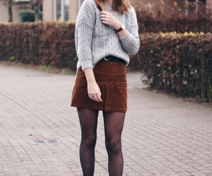brown, skirt, and clothes image