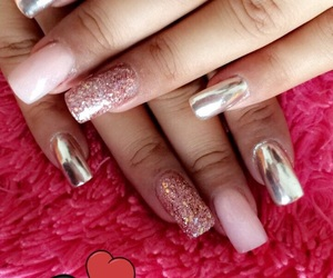 nails, perfection, and pink image
