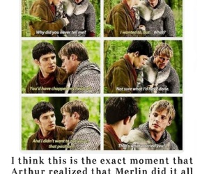 arthur, cry, and merlin image