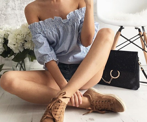 fashion, style, and offshoulder image