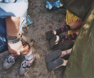 analog, camping, and feet image