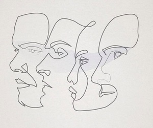 art, face, and drawing image