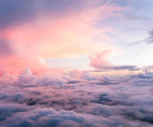 blue, pink, and wanderlust image