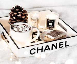 chanel, candle, and food image