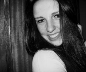 black and white, smile, and b&w image
