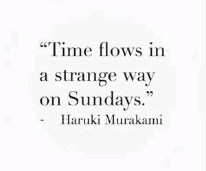 quotes, Sunday, and haruki murakami image