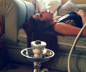 smoke, girl, and swag image