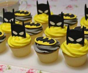 batman, cupcakes, and food image
