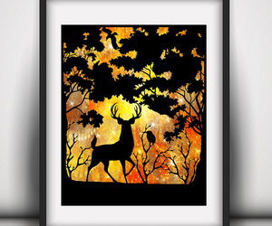 etsy, deer stag decor, and boy nursery stag image