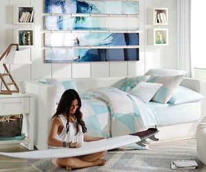 surf, blue, and decor image